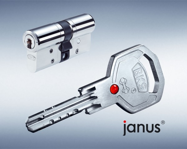 BKS Janus 46 Doppel-Schliesszylinder Version Chrom-Nickel-Stahl